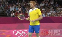 科登VS胡尔斯凯宁 2012奥运会羽毛球 男单资格赛视频
