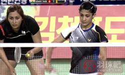 骆赢/骆羽VS蓬纳帕/古塔 2014亚锦赛 女双半决赛视频