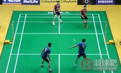 阿山/塞蒂亚万VS蔡赟/鲁恺 2015马来公开赛 男双1/16决赛视频