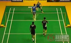 李龙大/柳延星VS李胜木/蔡佳欣 2015马来公开赛 男双半决赛视频