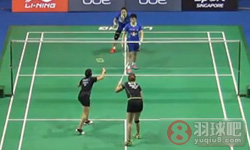 于洋/王晓理VS古塔/蓬纳帕 2015新加坡公开赛 女双1/8决赛视频