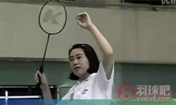后场吊球《学打羽毛球》教学视频 第16集