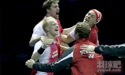 霍尔斯特VS张维峰 2016汤姆斯杯 男单半决赛视频