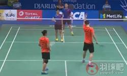 刘雨辰/汤金华VS谢影雪/邓俊文 2017印尼公开赛 混双1/8决赛视频