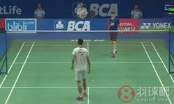 周天成VS安东森 2017印尼公开赛 男单1/8决赛视频
