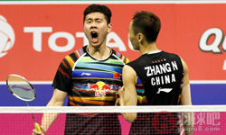 刘成/张楠VS柴飚/洪炜 2017羽毛球世锦赛 男双半决赛视频