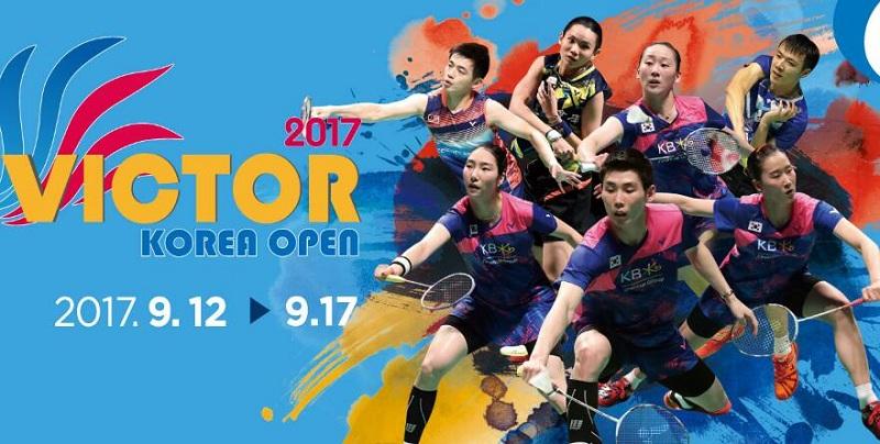 2017年韩国羽毛球公开赛直播及赛程安排